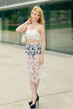 #style #blogger #lace #skirt #asos #fashion
