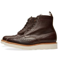 Mark McNairy Country Brogue Boot (Walnut Army Grain)