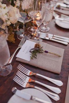 Rustic Place Setting Photography: Kris Kan Read More: http://www.insideweddings.com/weddings/lauren-kitt-and-nick-carter/605/