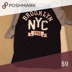 Selling this Brooklyn NYC 3/4 sleeve t-shirt on Poshmark! My username is: emmaeleanora. #shopmycloset #poshmark #fashion #shopping #style #forsale #Papaya #Tops