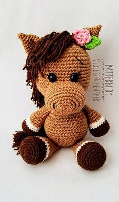 CROCHET PATTERN for Pretty Crochet Horse Pretty Pony Crochet