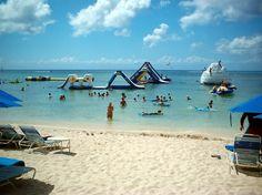 Paradise Beach, Cozumel April Vacation, Cruise Vacation, Cruise Tips, Paradise Beach Cozumel, Big Water Slides, Spring Break Cruise, Cozumel Mexico, Beautiful Places To Travel, Caribbean Cruise