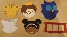 Daniel Tiger characters for banner - made with my Cricut Explore Air