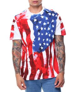 Find Short Sleeve Flag Tee Men's Shirts from Akademiks & more at DrJays. Mens Tees, Best Sellers, Tie Dye, Men's Shirts, Flags, Sleeves, Amp, Women, Fashion