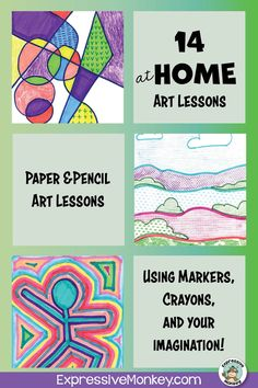 14 At HOME Art Lessons