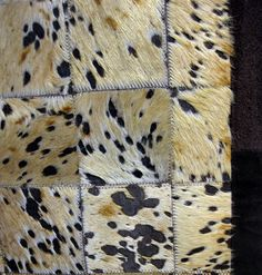 acid washed and dyed chocolate, this light caramel cowhide carpet with rich suede border is one of a kind!