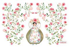 Stohne Illustration - Lolita placemat By Audrey Lisik