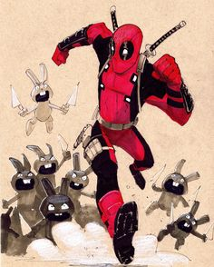Here's the high Rez of this week's Bib's Drawing Challenge! Deadpool Funny, Lady Deadpool, Female Deadpool, Deadpool Images, Deadpool Pictures, Rogue Character, Marvel Comic Character, Wade Wilson, Marvel Universe