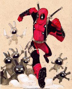 Deadpool vs Rabbits - Bob Q