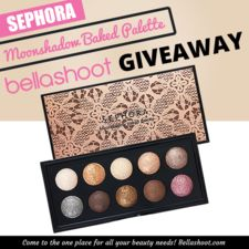 Enter to win the Sephora Moonshadow Baked Palette - In the Nude.  This palette features ten baked eye shadows in nude colors, each with a super sparkly finish (ARV $50).  The #giveaway is open to US/CAN residents only and ends 6/25/14.  #beauty