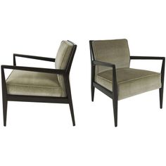 Exceptional Pair of Mahogany Lounge Chairs attr. Jens Risom   From a unique collection of antique and modern lounge chairs at http://www.1stdibs.com/furniture/seating/lounge-chairs/