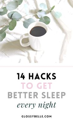 One of the worst things that can happen when you know you have a busy day ahead of you is to feel tired, fatigued, and unenergized. If you have trouble getting a good night's rest, here are 14 tips to get better sleep at night so you can feel more energized, productive, focused, and ready to take on the day! | productivity | fatigue | sleep better | self-care | health | wellness | insomnia | bedtime | relaxation | healthy habits | healthy lifestyle | stress relief | sleep hygiene Sleep Better, Good Sleep, Wellness Tips, Health And Wellness, Mental Health, Healthy Morning Routine, Morning Routines, Building Self Esteem, Yoga For Stress Relief