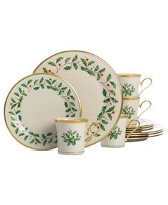Lenox Holiday 12 Piece Dinnerware Set (I saw this all over consignment as complete sets this year....could dress it out with tartan!)
