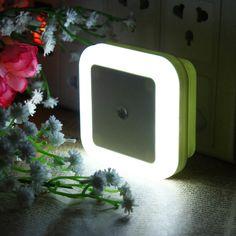 [US$2.79 ~ US$3.29] AC110-220V 0.5W Plug-in LED Night Light Lamp with Light Sensor Warm White US Plug / EU Plug #ac110220v #0.5w #plugin #night #light #lamp #sensor #warm #white #plug
