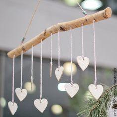 Купить Гирлянда - белый, береза, День Святого Валентина, День всех влюбленных, день влюбленных