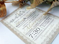 18 Rustic Wedding Invitations {Trendy Tuesday} | Confetti Daydreams - Elegant lace and burlap style rustic wedding invite  ♥  ♥  ♥ LIKE US ON FB: www.facebook.com/confettidaydreams ♥  ♥  ♥ #Wedding #Invites #invitations #RusticWedding
