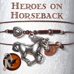 """Thread: BrownColored Glass Beads: BrownHorse: Tibetan Silver Heart: Tibetan Silver Glass Tube Beads: RustTag: NTIO/ Juliet (copper)Size: Fits AllClose-up Photo: Not Actual SizeThis bracelet was created for Heroes on Horseback a non-profit program that uses equine assisted therapy to aid those with mental, emotional, and physical """"disabilities.""""   It is a Premier Accredited Center of PATH (Professional Association of Therapeutic Hors…"""