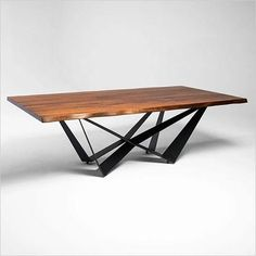 Aksel Dining Table - Scan Design | Modern & Contemporary Furniture Store Walnut Dining Table, Round Dining Table, Dining Bench, Dining Chairs, Dining Room, Contemporary Furniture Stores, Contemporary Dining Table, Modern Contemporary, Metal Table Legs