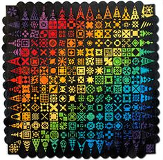 Image from Empire Quilters  Probably my favorite quilt ever! 225   4 inch blocks. I had the pleasure of looking at it everyday for weeks at work. An awesome work of art