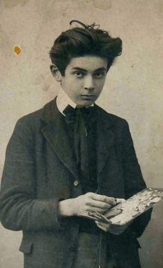 Egon Schiele at fifteen