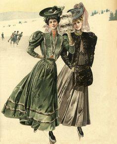 Stroje na ślizgawkę, 1905 Skating outfits, 1905
