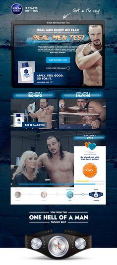 Idee, Konzept, Design und Videoproduktion einer Digital-Kampagne für 10 Länder für NIVEA Men Test Taking, Test Video, How To Apply, How To Get, Real Man, Videos, Feel Good, Nivea, Challenges