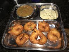Vada with sambar & chutney