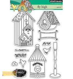 Penny Black clear stamp SET - fly high - Vogelhaus 30-341, Motivstempel