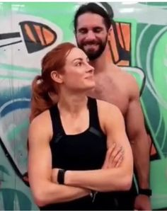 """WWE Superstars Seth Rollins (Colby Lopez) in the gym with his girlfriend """"The Man"""" Becky Lynch (Rebecca Quin). #WWE #wwecouples #wwewags #boyfriend #girlfriend #dating #couple #relationship #family #wrestling #wrestler #2019 Wwe Seth Rollins, Seth Freakin Rollins, Wwe Pictures, Wwe Photos, Seth Rollins Girlfriend, Dave Cameron, Wwe Raw Women, Becky Wwe, Rebecca Quin"""