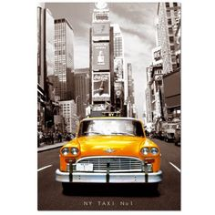 Educa - Jigsaw Puzzle - 1000 Pieces - Taxi n°1 New York - Jigsaw Puzzle Road