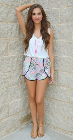 Hip N' Happy Aztec Shorts
