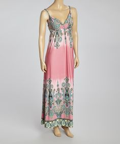 Take a look at the Pink & Black Paisley Sleeveless Maxi Dress - Women on #zulily today!