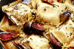 Recipe: Caramelized Figs and Ravioli with Rosemary Brown Butter & Crispy…