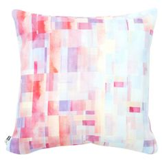 Bring a lively pop of style to your sofa or favorite reading nook with this woven pillow, featuring a multicolor polka-dot motif. Made in the USA.