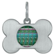 Emerald Green ART Pattern CRYSTAL Stone GIFTS Pet ID Tags