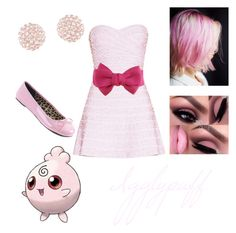 """""""Igglypuff 💗"""" by ravenclawqueen1 on Polyvore featuring Free People, Hervé Léger and Pleaser"""