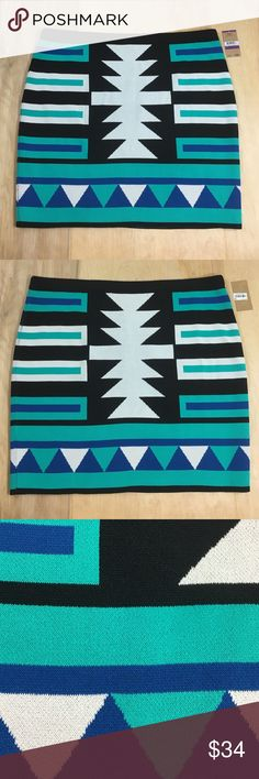 """New🔥Rachel Roy blue Teal stretchy skirt XXL It's new. My child ripped the tag off ❤️ very cute trendy stretchy skirt. Personally I think this is a mini, it fits my mini and I'm 5' 7"""" See measurements to determine best fit. 18"""" waist 18.5"""" top to bottom 21"""" hip   ❣️Thank you for your business! 👍🏼I love reasonable offers!  🏃🏻 Next business day shipping!  ⛔️Smoke free, we have 1 🐶 but he is no             where near the items  🚫No trades/outside offers/modeling  Follow me on Instagram…"""