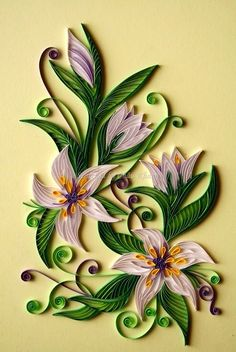 Quilled lilies
