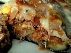 A comer y a callar: BERENJENAS RELLENAS DE ATUN