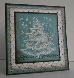 Beautiful blue Snowy Tree card