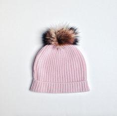 100% CASHMERE POM POM HAT - PINK – Ivy Cabin