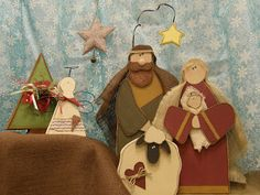 At the Ivy Cottage: December 2011 Christmas Jesus, Christmas Nativity Scene, What Is Christmas, Christmas 2019, Merry Christmas, Nativity Scenes, Christmas Ideas, Christmas Wood Crafts, Primitive Christmas