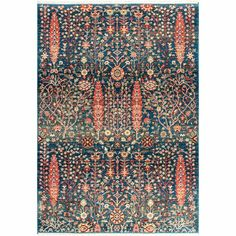 You'll love the Daves Blue/Orange Area Rug at Wayfair - Great Deals on all Rugs products with Free Shipping on most stuff, even the big stuff. Modern Color Palette, Modern Colors, Orange Area Rug, Blue Area Rugs, Southwestern Area Rugs, Affordable Area Rugs, Trellis Pattern, Polypropylene Rugs, Machine Made Rugs