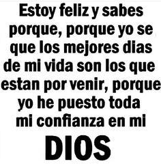 Así lo creo!!! #fe #Dios Biblical Quotes, Bible Quotes, Bible Verses, Scriptures, Qoutes, Special Prayers, Serenity Prayer, Got Quotes, God Prayer