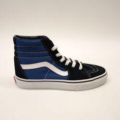 62aa5b90ebb New Vans Womens Blue Black Skater High Top Classic Canvas Shoes Sz US 7 EU  37
