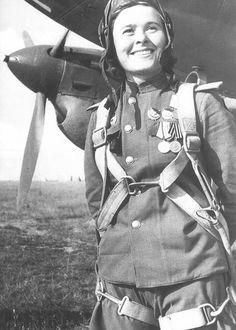 Cpt Maria Ivanovna Valley (1922-2010) flew 72 sorties in a Pe-2 dive bombers, dropped 45 tonnes of bombs, and shot down 3 enemy fighters. In 1944, she was deputy commander of the 125th Guards Bomber Regiment, 4rth Guards Bomber Division. In 1945, Valley's service to the USSR and her combat performance won her the top award of Hero of the Soviet Union ~