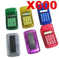 Wholesale Lot of 600 X Mini Calculators - Mini - Magnet to Place Steadily - Assorted Colour