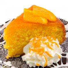 A sweet and tangy orange cake that is moist and delicious.