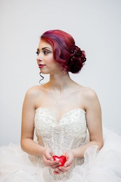Wedding hair & makeup by Salon Head Candy, Cherry Hill, NJ!  Pretty updo with a braid on long red hair. Pulled up into a soft bun updo wrapped with a braid with a few whispy pieces around the face. Natural perfect wedding day makeup using Urban Decay Naked 3 Palette.   #salonheadcandy Salonheadcandy.com