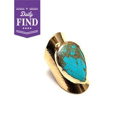 love this rugged turquoise ring